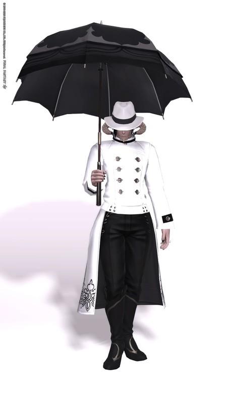 黒い傘の男