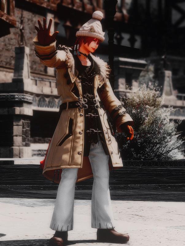 シンプルな冬の装い