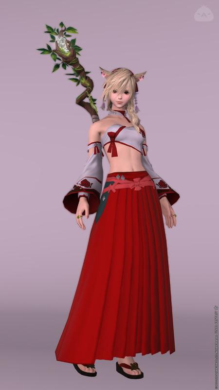 紅白の巫女コーデ