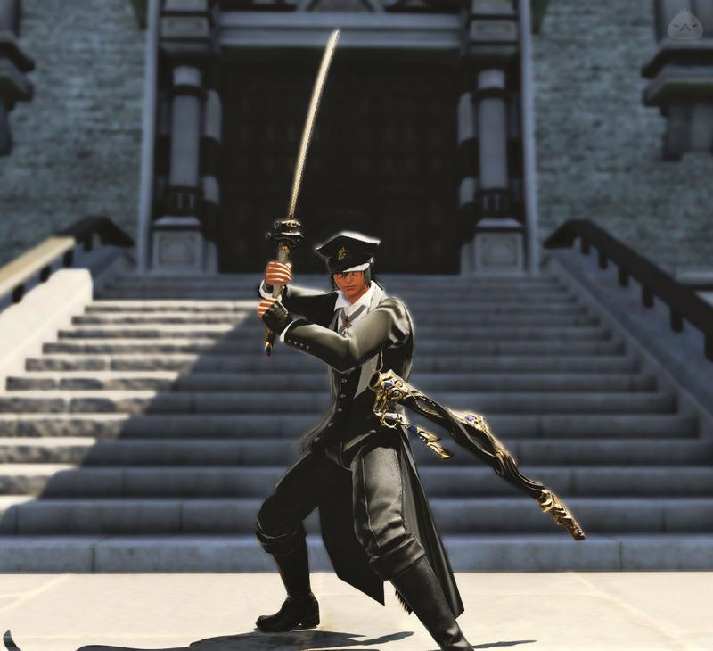 東方のモダンな剣士