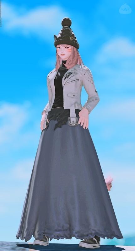 ライダース×ロングスカート