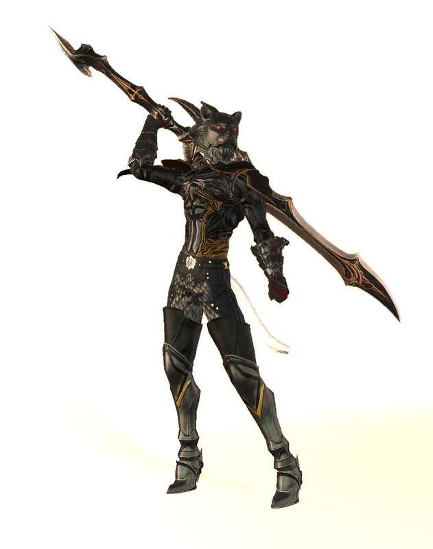 ケモノっぽい暗黒騎士