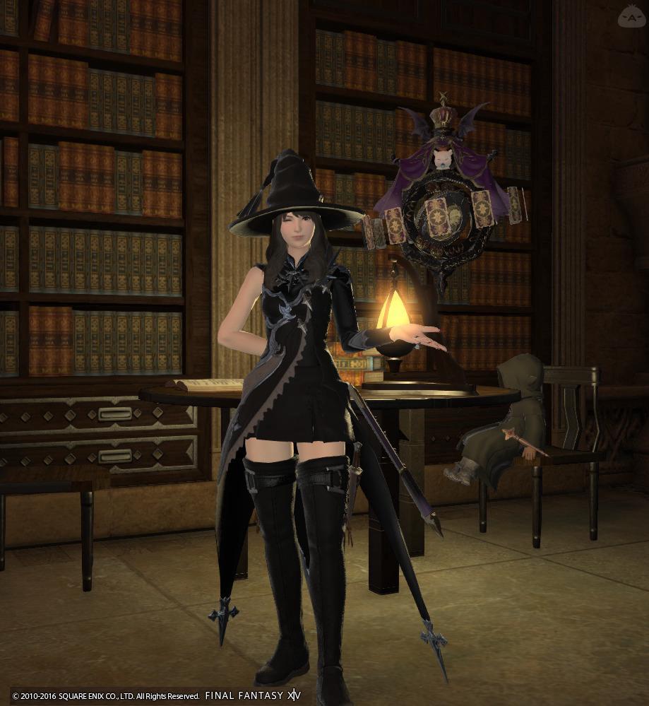 占いの館の魔女風