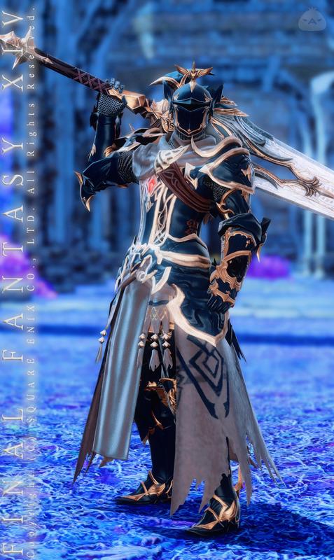 群青の甲冑騎士
