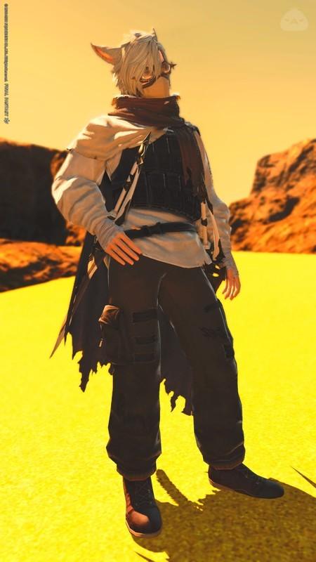 砂漠の旅人風忍者