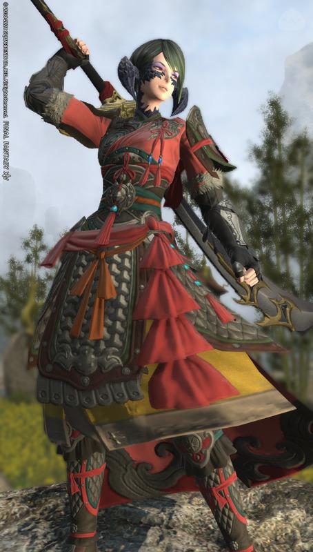 中華風で黒くない暗黒騎士