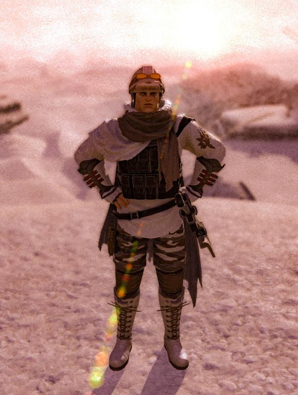 雪山のゲリラ兵(侍)