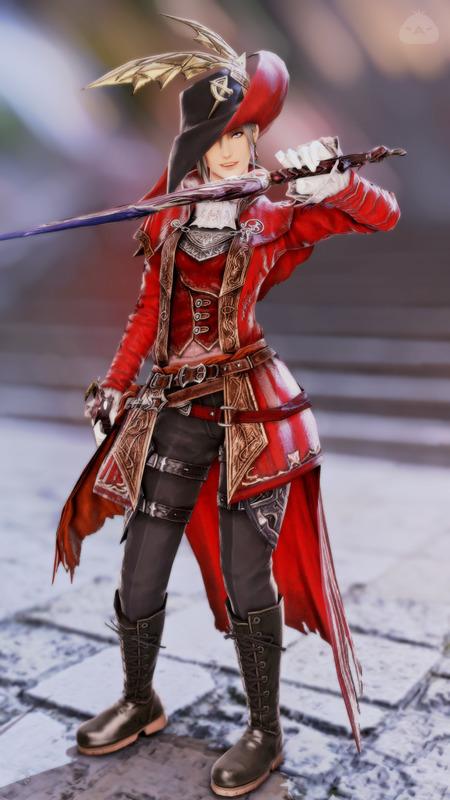 赤い双剣士