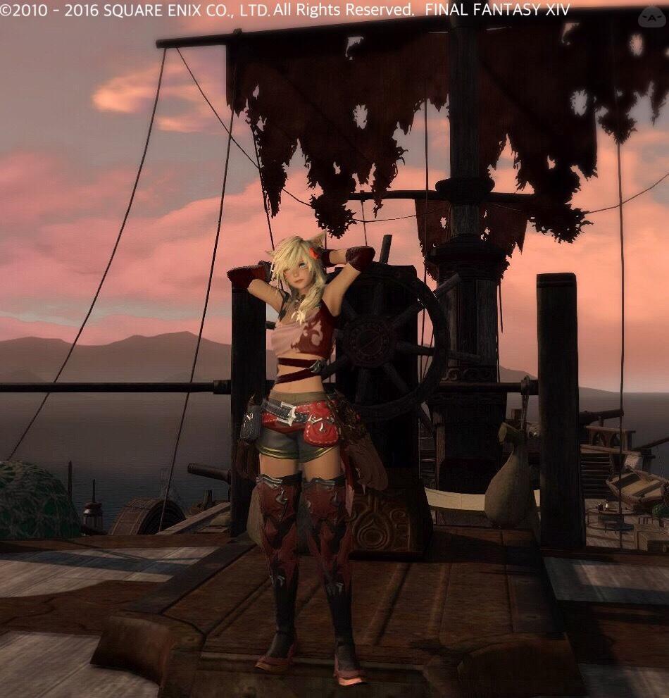 アラクネシャツで海賊風モンク