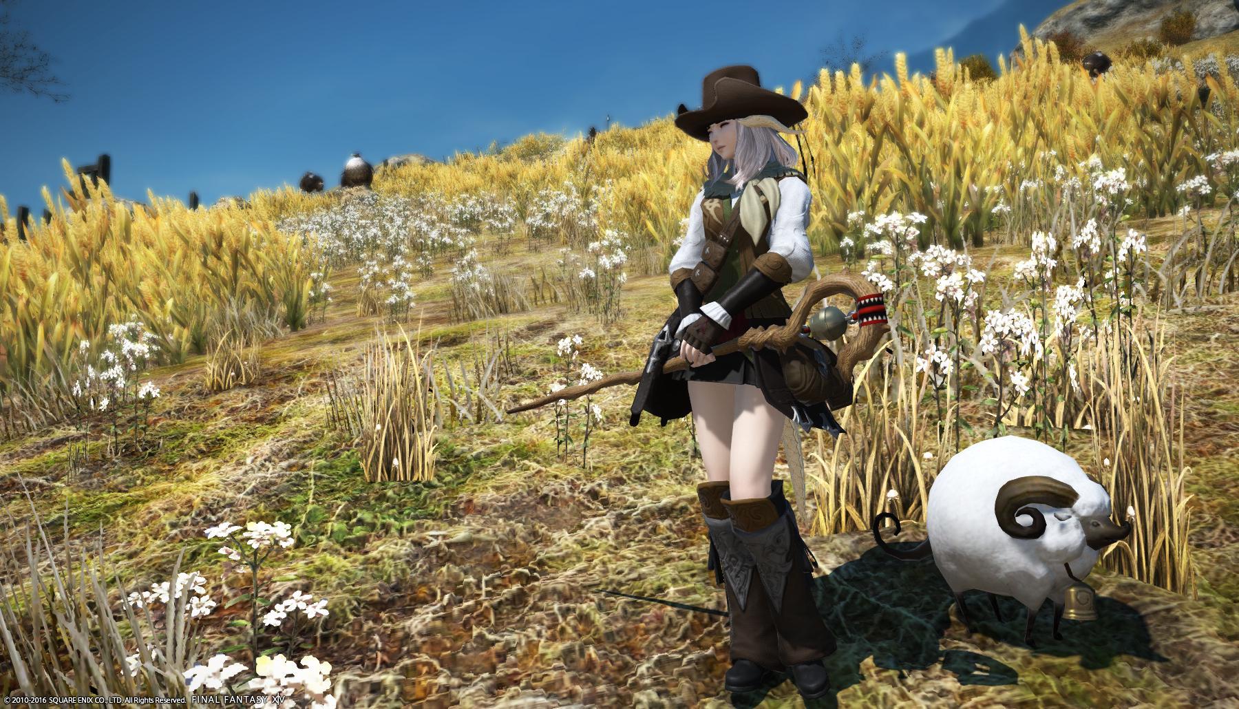 秋色羊飼い