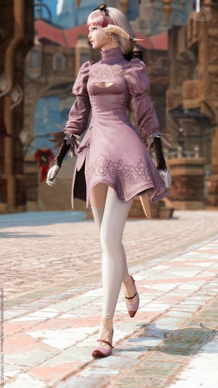 2B服をワンピースドレスとして