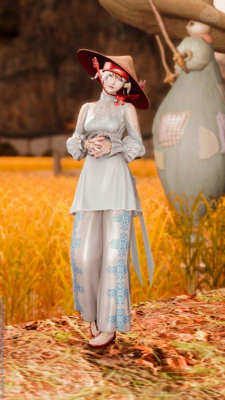 オラクル衣装を使ってアジアの村娘