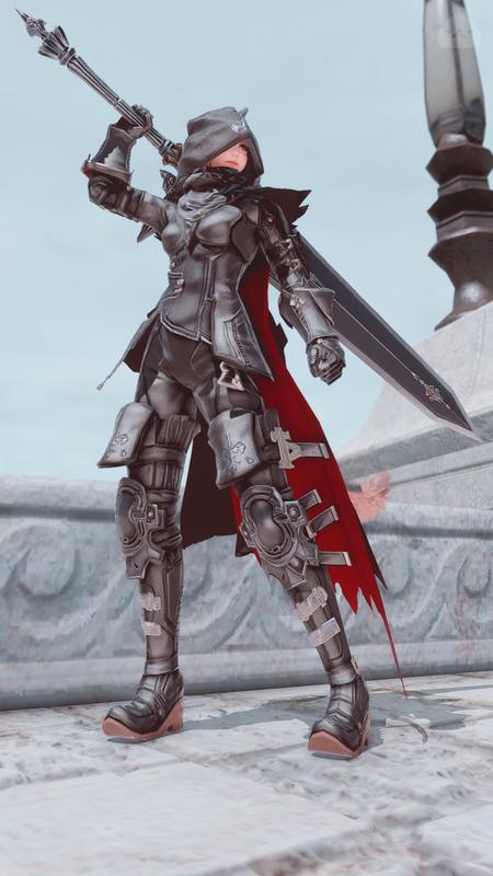軽装備の暗黒騎士