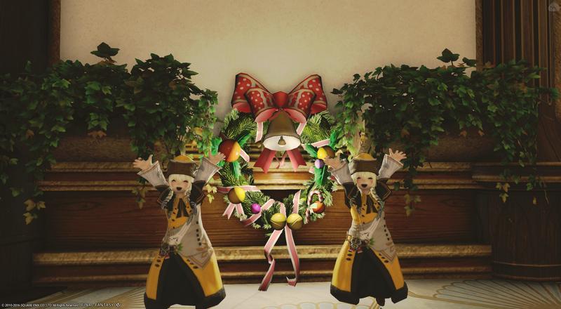 双子ごっこでクリスマス準備。