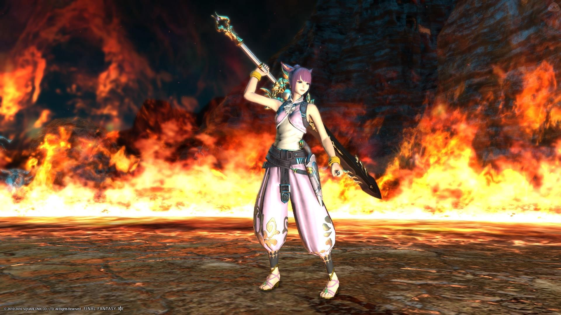 炎の魔法剣士!