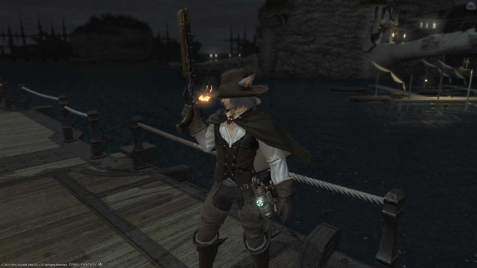 港で噂のガンマン