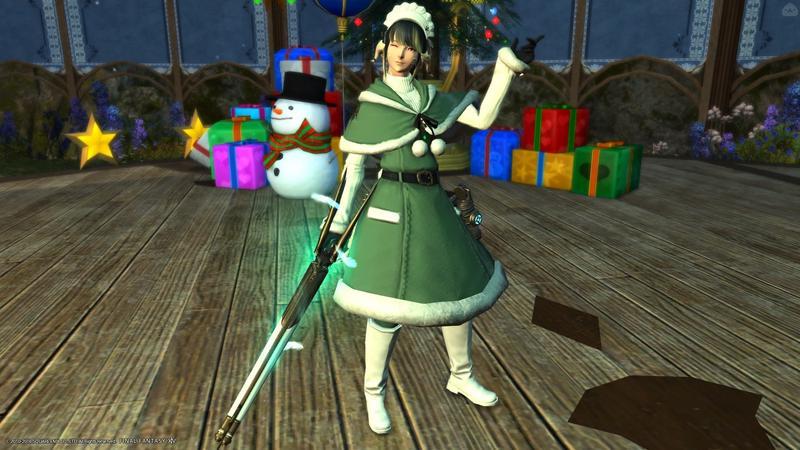 緑と白 ~銃と羽毛とセーターと~