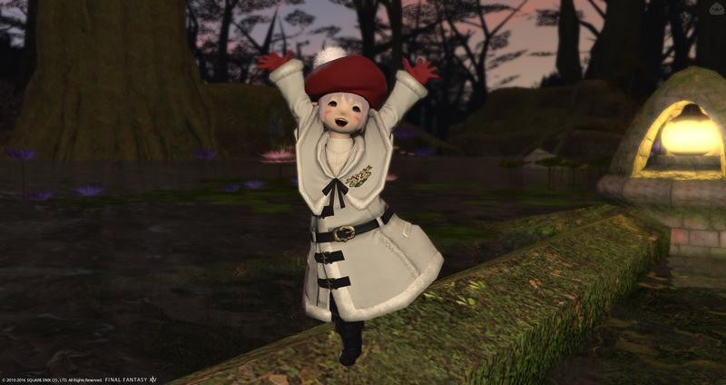 男の娘、冬の装い