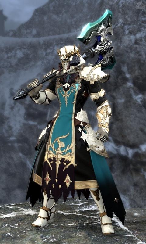 浅葱色の斧騎士