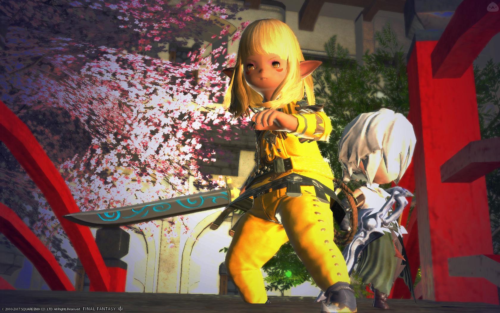 黄色い服で日本刀もって乗り込む。