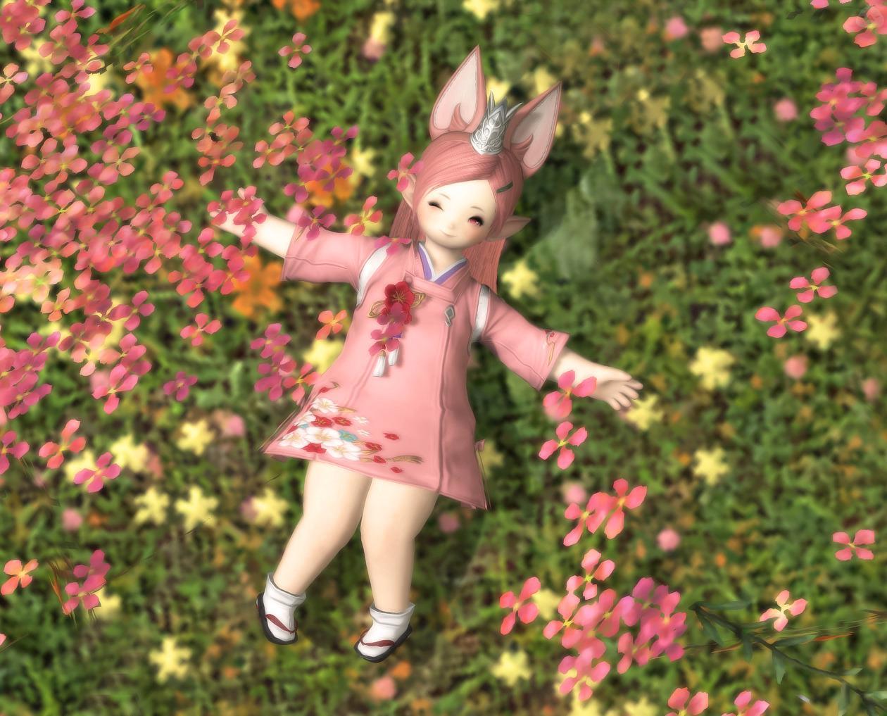 花畑のララフェル