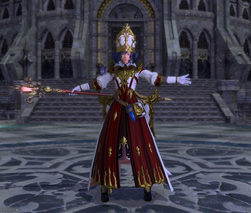 教皇っぽい感じの白魔