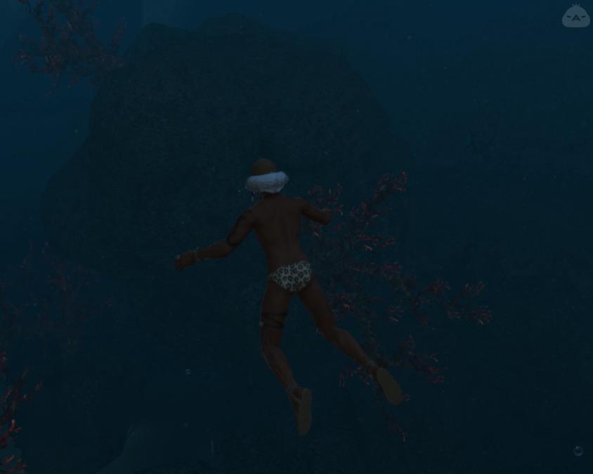 博士の海水浴
