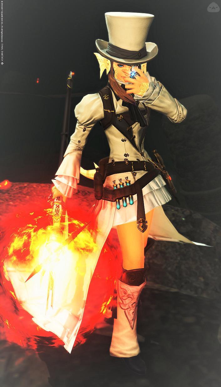 白い黒魔ちゃん