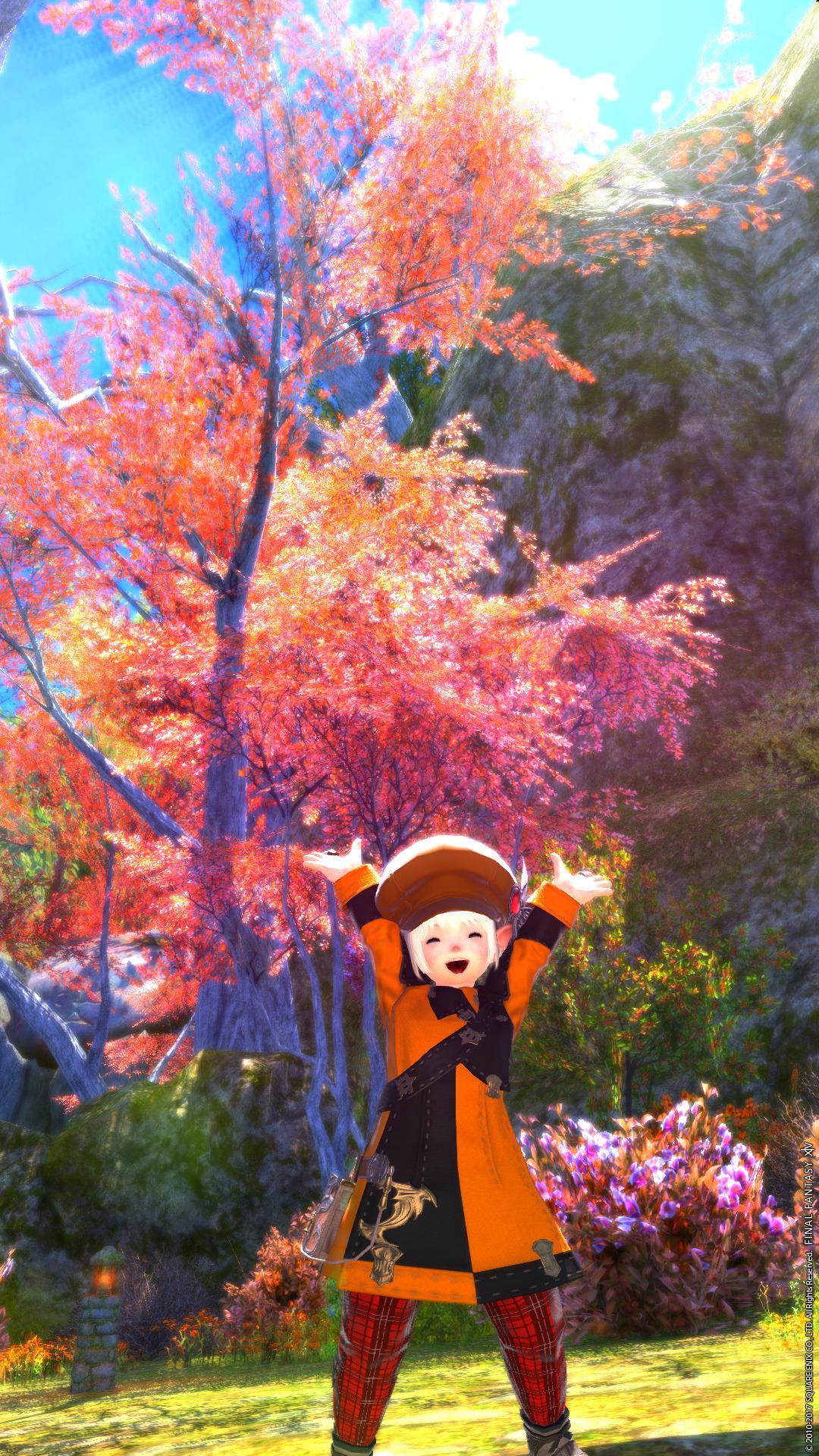 秋コーデで紅葉狩り