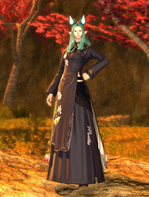 アオザイを利用した東洋風ドレス