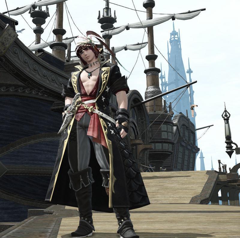 海賊のお頭風コーデ