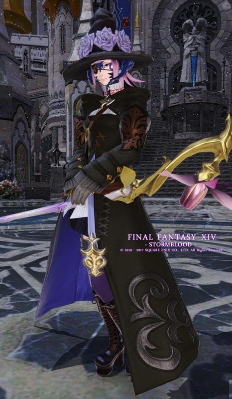 紫黒の白魔道士