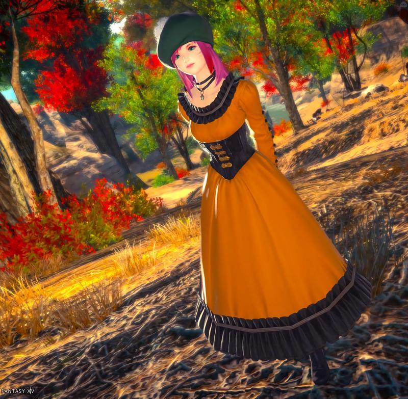 秋のお嬢様のお散歩♪