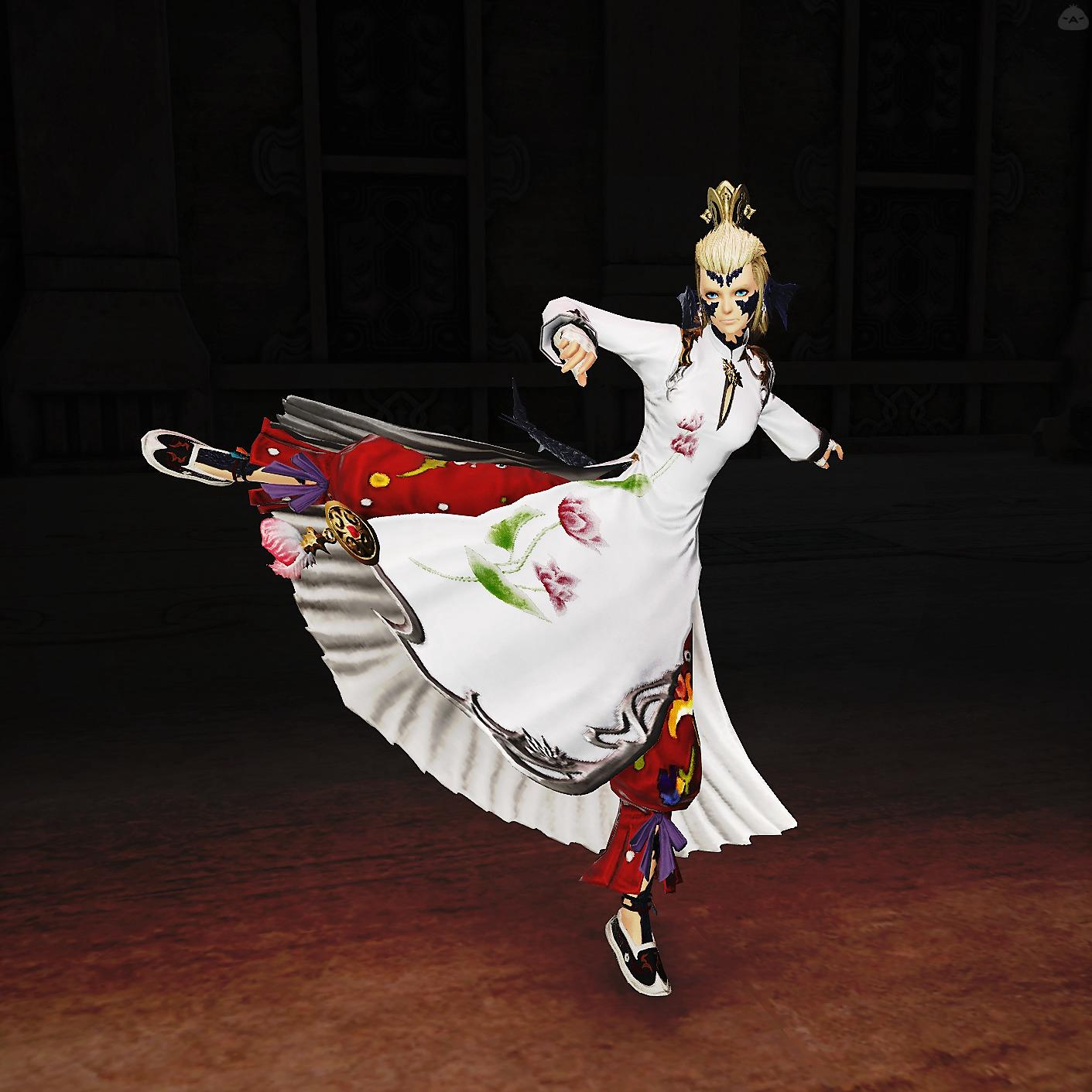 白アオザイモンク