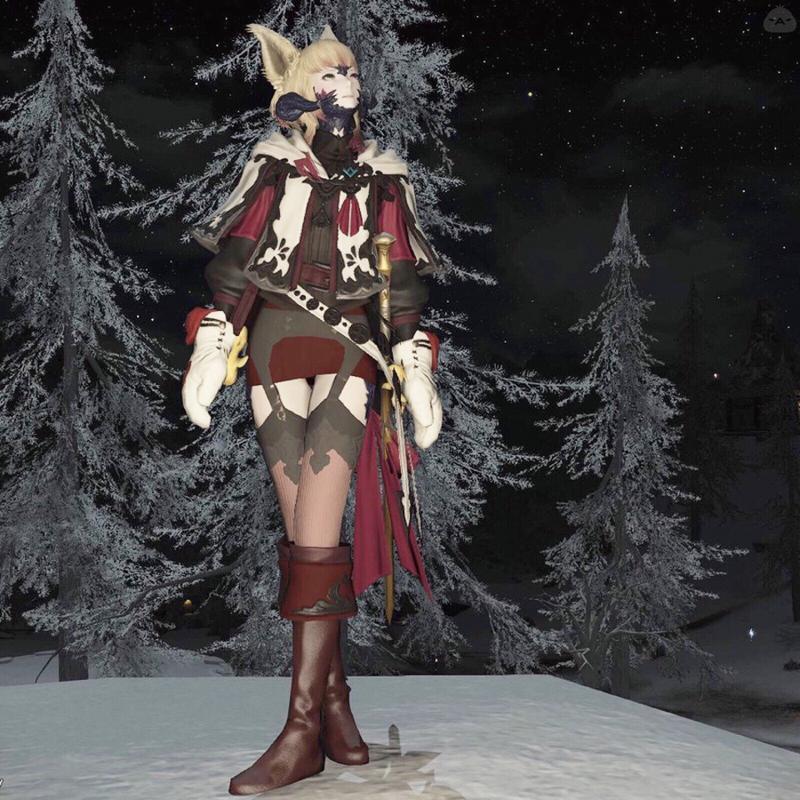 雪夜のお散歩「今夜も冷えますー」
