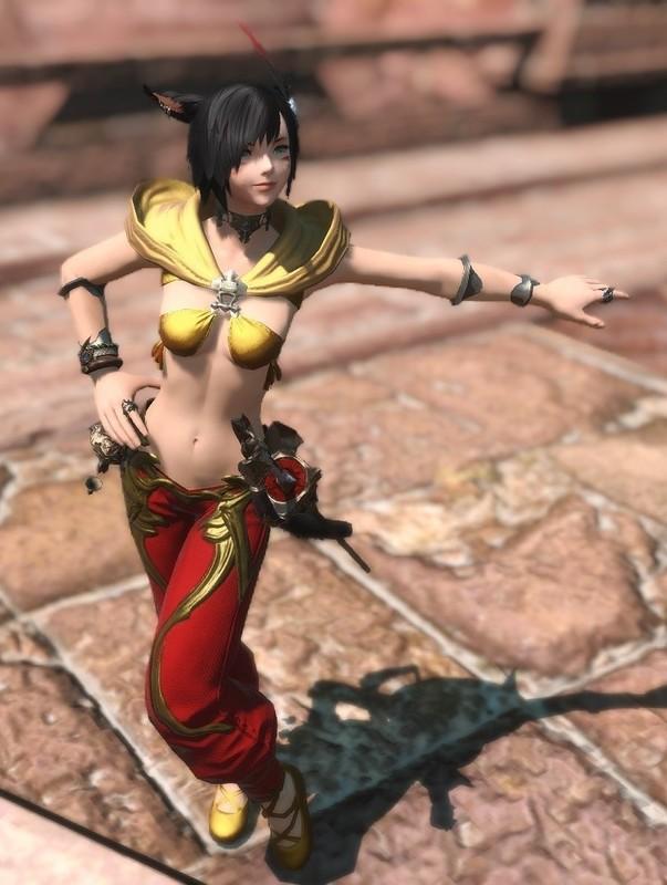 砂漠の国の踊り子風の赤魔道士