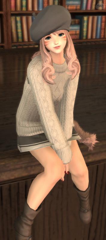 ほっこりセーター女子