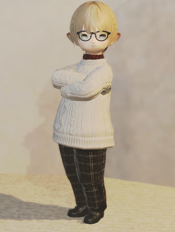 シャツとセーターの着こなし
