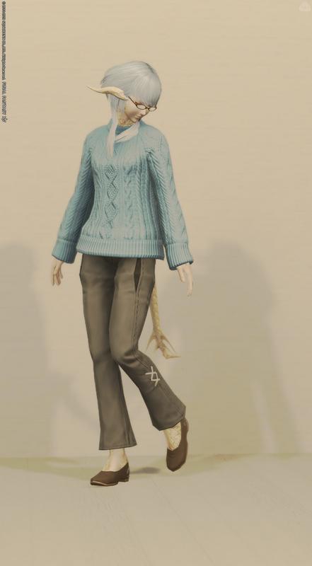 セーター+模擬フィットパンツ