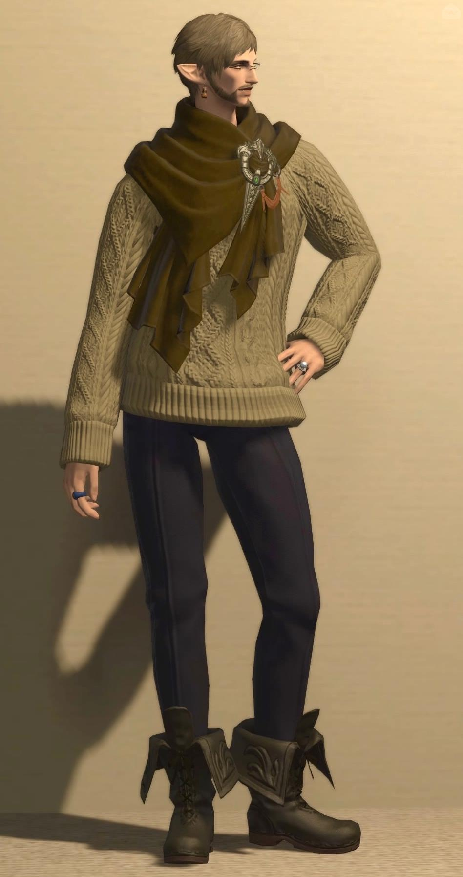 アドベンチャラーセーターのカジュアルな着こなし