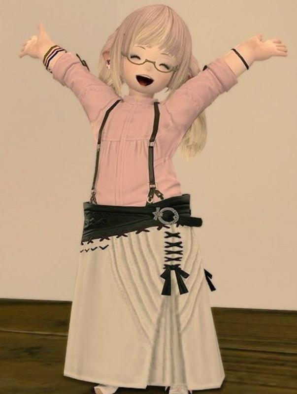 お気に入りのリボンスカート。