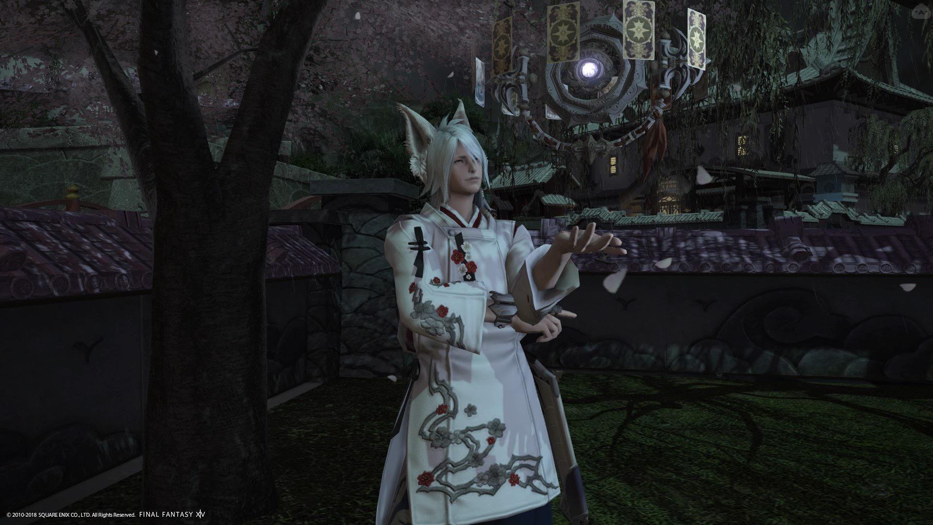 夜桜と狐神使