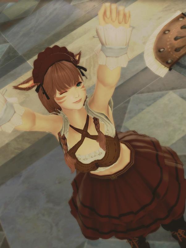 クウェインチュレル・ラッフルスカートが可愛い!