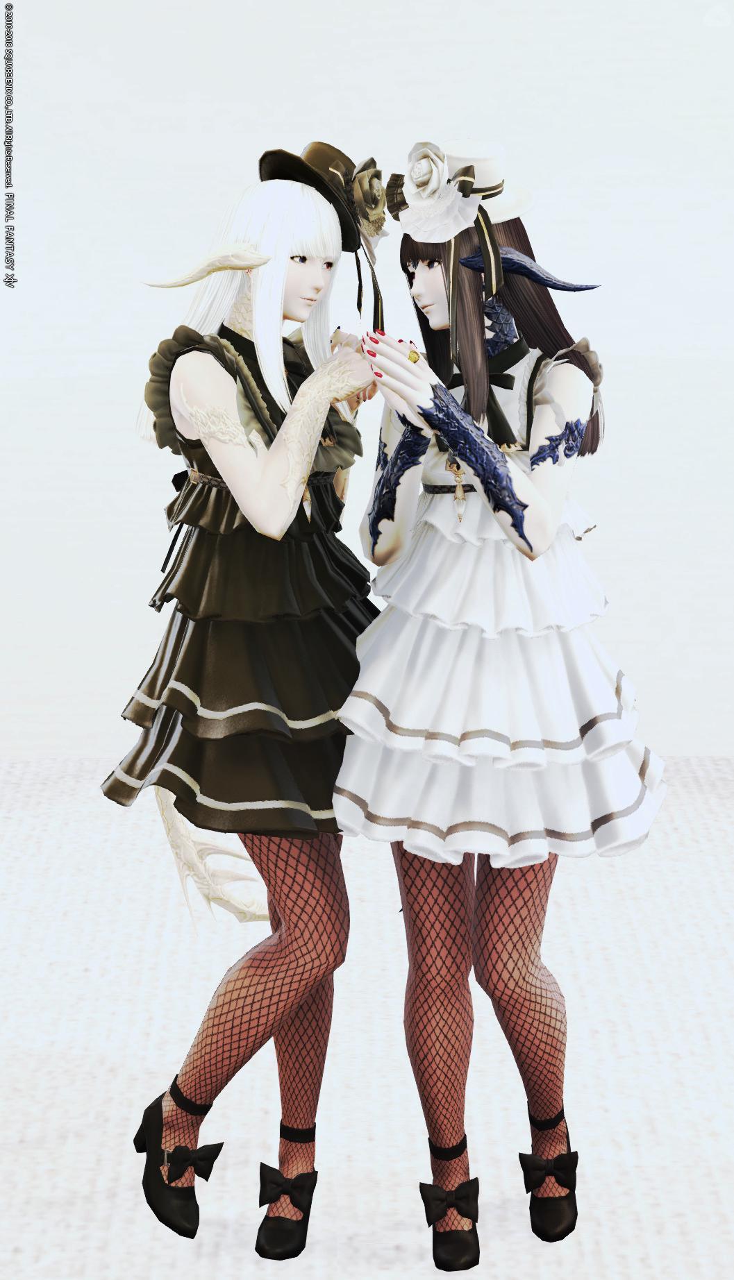 双子の白黒アウラ