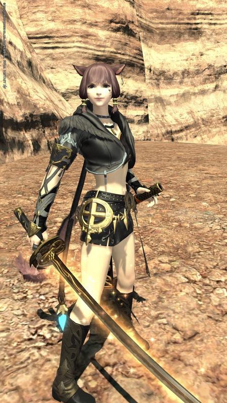 軽装の女剣士