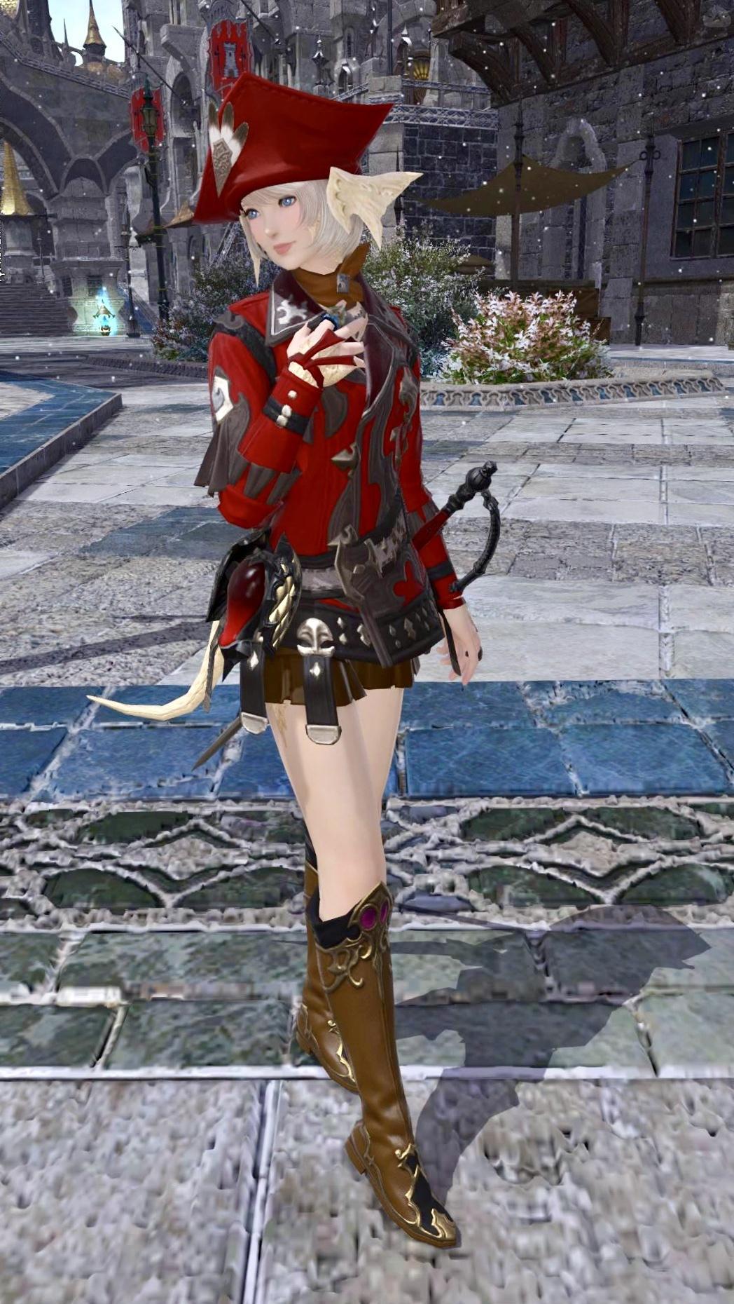 赤魔道士のジャケットコーデ