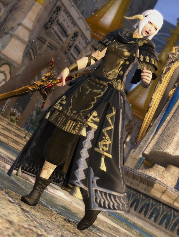 軽装な黒騎士