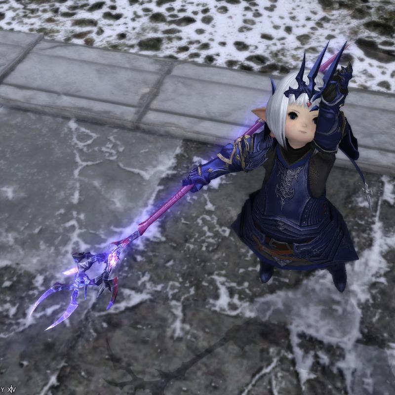 竜騎士コスプレ(白魔道士)