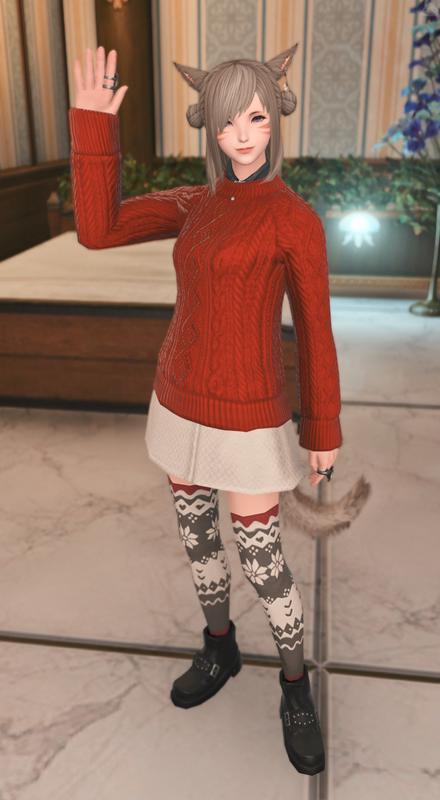セーター重ね着風