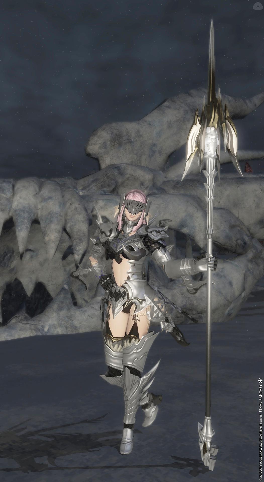Lv60で着られる、(露出の多い)白銀の竜騎士
